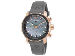 Swiss Legend 16192Sm-Rg-014-Grys Blue Geneve Multi-Function Grey Silicone Grey Mop Dial Watch