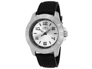 Invicta 21858 Men's Pro Diver Black Polyurethane Silver-Tone Sunray Dial Watch
