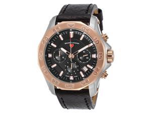 Swiss Legend 16198Sm-Sr-01 Islander Chrono Black Genuine Leather And Dial Watch