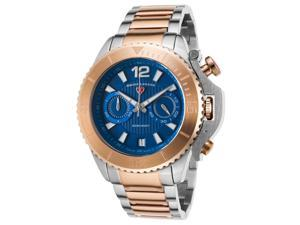 Swiss Legend 14019Sm-Sr-33 Scorpion Chronograph Ss And Rose-Tone Ss Blue Dial Ss Watch