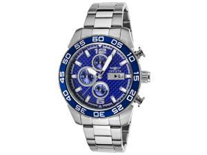 Invicta 21376 Men's Specialty Chrono Ss Blue Carbon Fiber Dial Watch