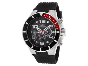 Invicta 18737 Men's Pro Diver Multi-Function Black Textured Polyurethane & Dial Watch