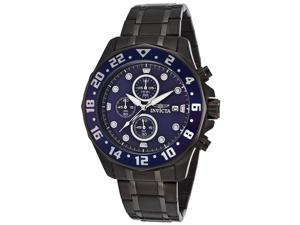 Invicta 15944 Men's Specialty Chrono Black Ip Ss Blue Dial Watch