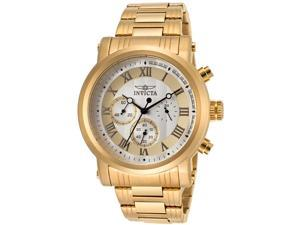 Invicta 15216 Men's Specialty Chronograph 18K Gold Plated Steel Two-Tone Dial Watch