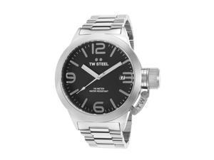 Tw Steel Cb1 Men's Canteen Stainless Steel Black Dial Watch