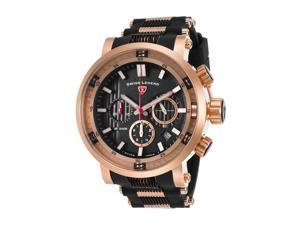 Swiss Legend 13838Sm-Rg-01 Dragonet Chronograph Black Silicone And Dial Rose-Tone Ss Watch