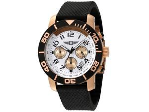 I By Invicta 41701-002 Men's Chrono Black Silicone Silver-Tone Dial Watch
