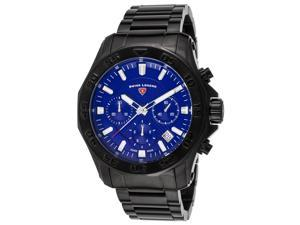 Swiss Legend 16199Sm-Bb-33 Islander Chronograph Black Ion Plated Stainless Steel Blue Dial Watch