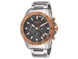 Swiss Legend 16199Sm-Sr-104-Rb Islander Chronograph Two-Tone Stainless Steel Black Dial Watch