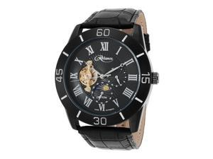 Croton Re306080bkbk Men's Reliance Automatic Black Genuine Leather And Dial 47Mm Watch