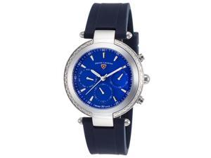 Swiss Legend 16175Sm-03-Bls Madison Diamond Multi-Function Navy Blue Silicone Blue Dial Watch