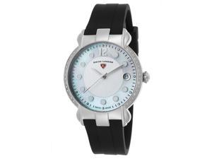 Swiss Legend 16591Sm-02 Layla Diamond Black Silicone White And Mop Dial Ss Watch