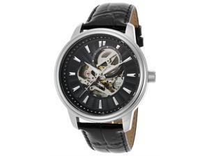 Invicta 22577 Men's Vintage Automatic Black Genuine Leather And Dial Stainless Steel Watch