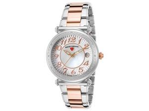 Swiss Legend 16330Sm-Sr-22 Bel Air Diamond Two-Tone Ss White Mop Dial Ss Rose-Tone Accent Watch