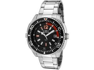 Invicta 1330 Men's Specialty Black Dial Stainless Steel Watch