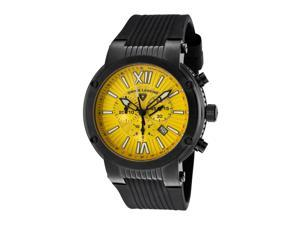 Swiss Legend 10006-Bb-07 Legato Cirque Chrono Black Silicone Yellow Dial Black Ip Ss Watch