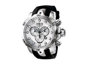 Invicta F0004 Men's Venom Reserve Chrono Black Polyurethane Silver-Tone Dial Watch