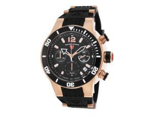 Swiss Legend 14084Sm-Rg-01-Bb Sharkarma Chronograph Black Silicone, Dial & Bezel Rose-Tone Ss Watch