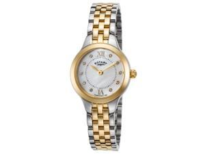 Rotary Lb02761-41 Women's Two-Tone Stainless Steel White Mop Dial Ss Watch