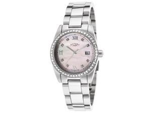 Rotary Lb02343-07 Women's Stainless Steel Pink Mop Dial Ss Watch