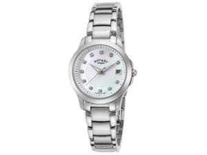 Rotary Lb02836-07 Women's Stainless Steel Mother Of Pearl Dial Stainless Steel Watch