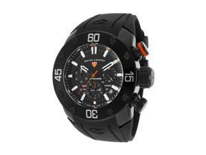 Swiss Legend 10616Sm-Bb-01-Oa Lionpulse Chronograph Black Silicone, Dial And Case Orange Accent Watch