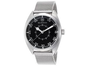 Ben & Sons 10014-022S Voyager Stainless Steel Mesh Black Dial Ss Watch