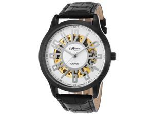 Croton Re306072bkbk Men's Reliance Automatic Black Genuine Leather, Case And Dial Watch