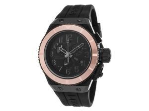 Swiss Legend 13845-Blk-Rba Trimix Diver 2.0 Chrono Black Silicone And Dial Rose-Tone Bezel Watch