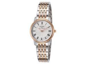 Rotary Lb90018-06 Women's Les Originales Two-Tone Stainless Steel Silver-Tone Dial Ss Watch