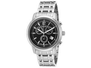 Akribos Xxiv Ak692ssb Men's Chronograph Stainless Steel Black Dial Stainless Steel Watch