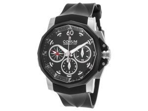 Corum A986-02935 Men's Admiral's Cup Auto Chrono Black Rubber, Dial & Ip Ss Bezel Ss Watch