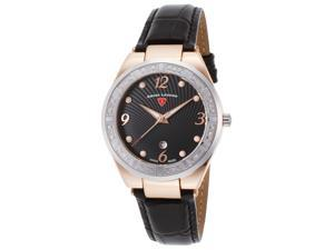 Swiss Legend 10220Sm-Rg-01-Sb Passionata Diamond Black Leather And Dial Ss Rose-Tone Case Watch