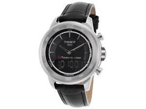 Tissot T0834201605110 Men's Sp. Ed. T-Touch Classic Digital Analog Black Gen Leather & Dial Watch