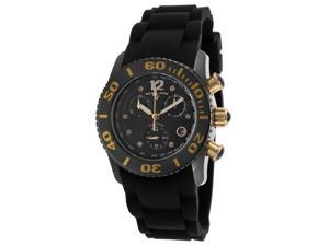 Swiss Legend 10128-01-Ga Commander Diamonds Chronograph Black Silicone And Dial 37Mm Watch