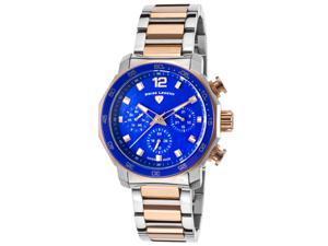 Swiss Legend 16188Sm-Sr-33 Blue Geneve Multi-Function Two-Tone Stainless Steel Blue Mop Dial Watch