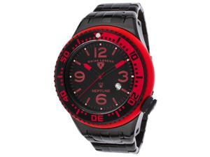 Swiss Legend 21819P-Bb-11-Rb Neptune Force Black Ip Steel And Dial Red Accents Watch