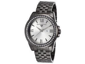 Swiss Legend 10551-Gm-22S Allure Gunmetal Ip Ss Silver-Tone Dial Crystal Bezel Gunmetal Ip Ss Watch
