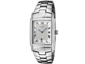 Rotary Men's Silver Textured Dial Stainless Steel