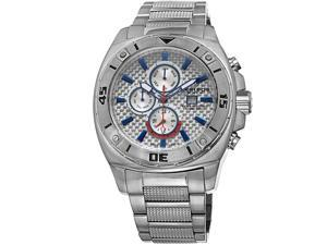 Akribos Xxiv Ak652ss Men's Stainless Steel Silver-Tone Dial Blue Accent Ss Watch