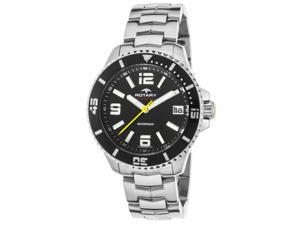 Rotary Agb00074-W-04 Men's Aquaspeed Ss Black Dial Ss Watch