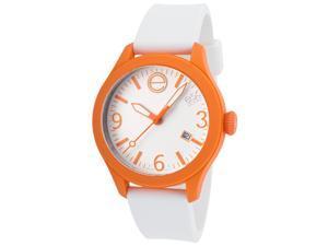 ESQ One Unisex Watch with White Silicone Dial, Orange Case