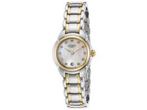 Rotary Lb02602-41L Women's Two-Tone Stainless Steel Mop Dial Gold-Tone Bezel Ss Watch