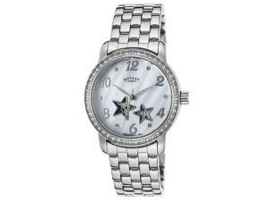 Rotary Lb03735-07 Women's Automatic Stainless Steel White Mop Dial Ss Watch