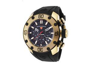 Swiss Legend 10616Sm-Yg-01-Bb Lionpulse Chronograph Black Silicone And Dial Gold-Tone Ss Watch