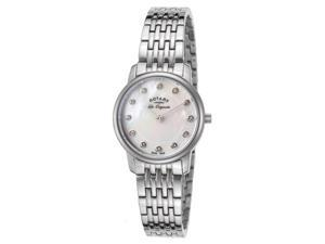 Rotary Lb90016-07 Women's Les Originales Stainless Steel Mother Of Pearl Dial Ss Watch