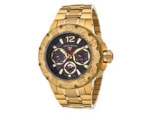 Swiss Legend 14097Sm-Yg-11 Ultrasonic Multi-Function Gold-Tone Ss Black Dial Gold-Tone Ss Watch