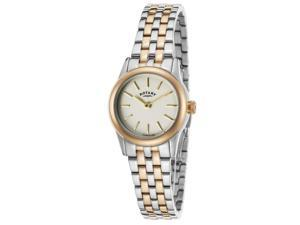 Rotary Lb02571-03 Women's Two-Tone Stainless Steel Ivory Dial Stainless Steel Watch