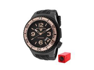 Swiss Legend 11819A-Bb-01-Rb-W Neptune (52 Mm) Automatic Black Silicone Black Dial With Winder Watch