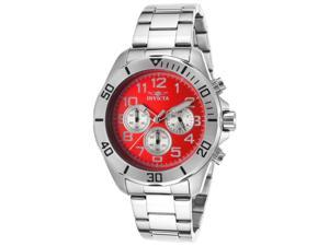 Invicta 17938Syb Men's Pro Diver Chronograph Stainless Steel Red Dial Watch